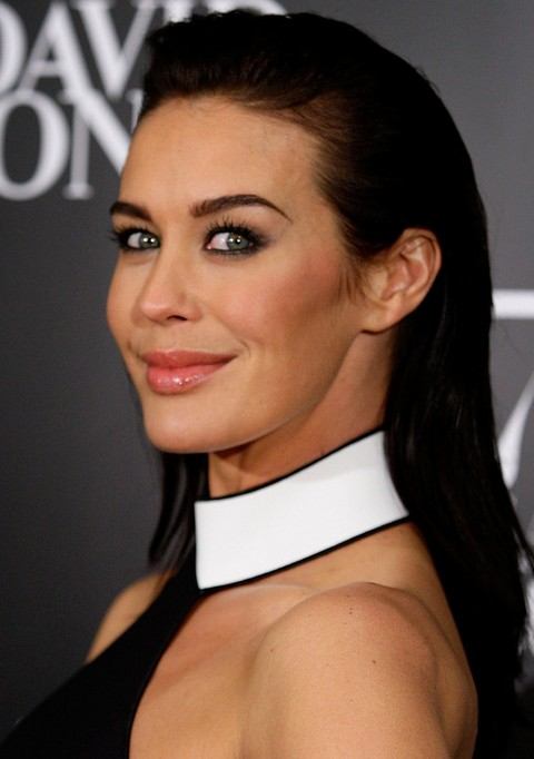 Megan Gale Long Hairstyle: Straight Hair with Coif Bangs