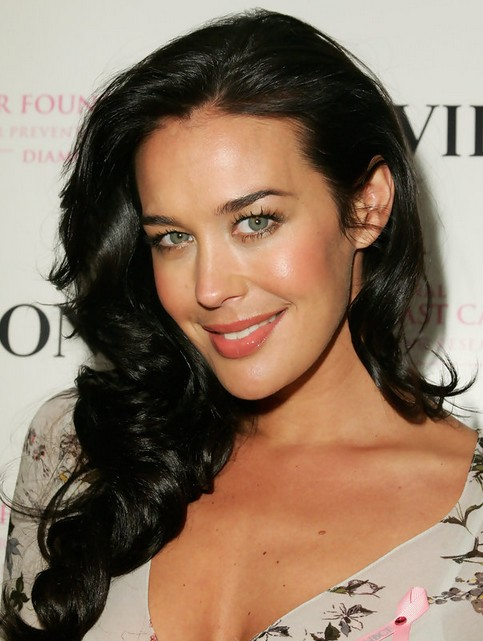 Megan Gale Long Hairstyle: Parted Parted Curls