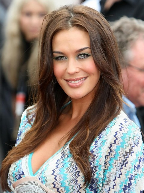 Megan Gale Long Hairstyle: Long Side Parting