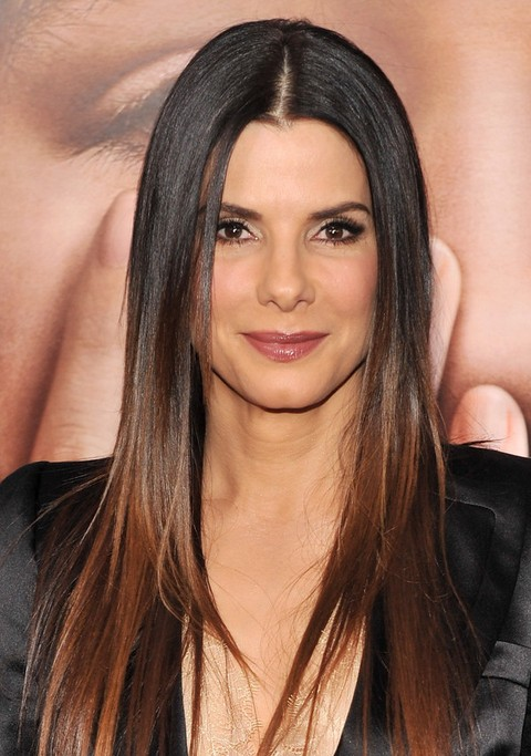 Sandra Bullock Long Hairstyle: Straight Hair for Everyday Life