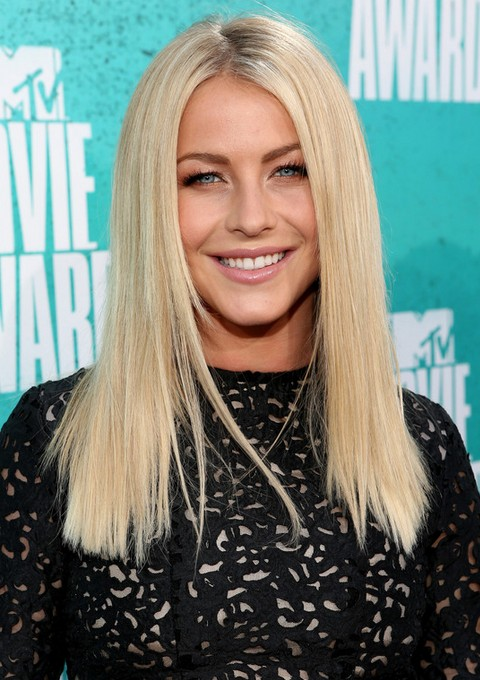Julianne Hough hairstyles: blunt straight haircut