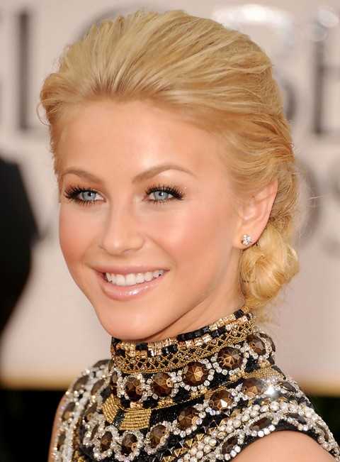 Julianne Hough Hairstyles: Graceful Chignon