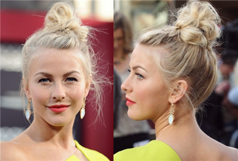Julianne Hough Hairstyles: Interesting Hair Bun