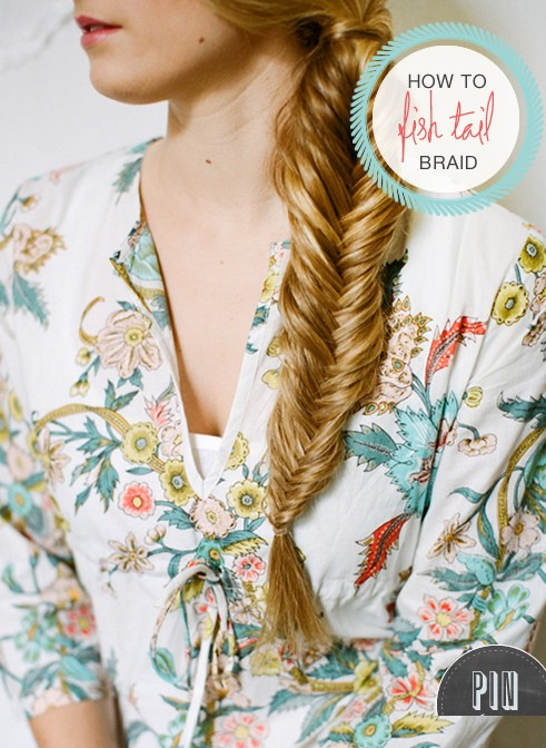 20 tutorials on braided hairstyles: how to braid a fishtail