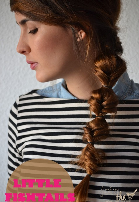 20 tutorials on braided hairstyles: small fishtails