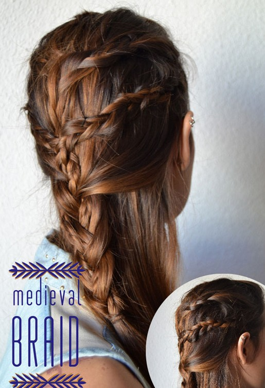 20 tutorials on braided hairstyles: medieval braids