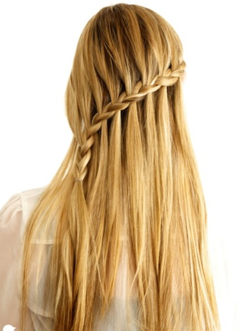 20 tutorials on braided hairstyles: crossover cascade braid