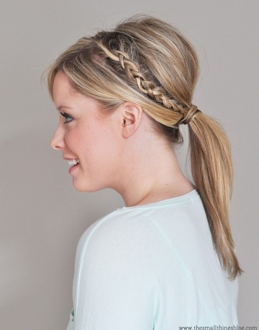 20 Braided Hairstyle Tutorials: Double Braided Ponytail Hairstyle