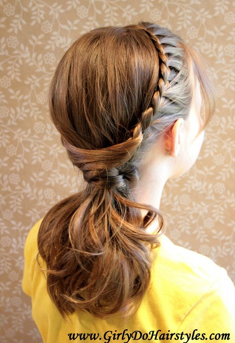 20 tutorials on braided hairstyles: pull braided ponytails for everyday wear