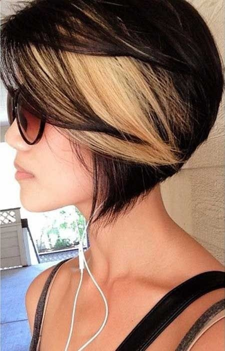 Black blonde ombre bob hairstyle