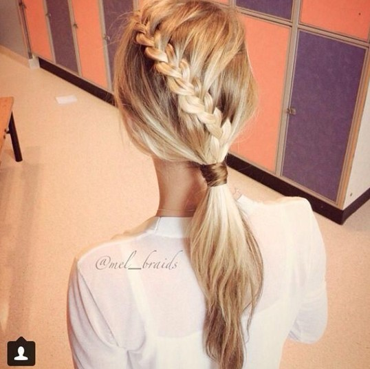 Nice braided ponytail hairstyle