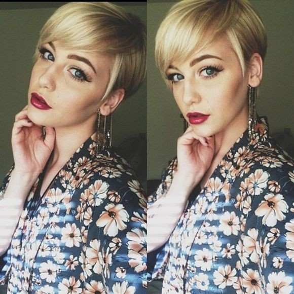 Nice long pixie cut for long face