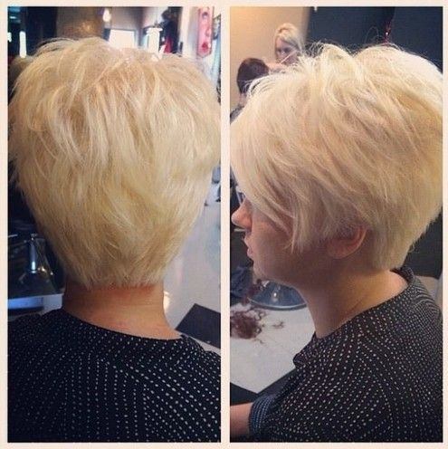 Blonde pixie hairstyle for women