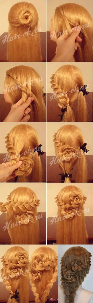 Rose braided hairstyle