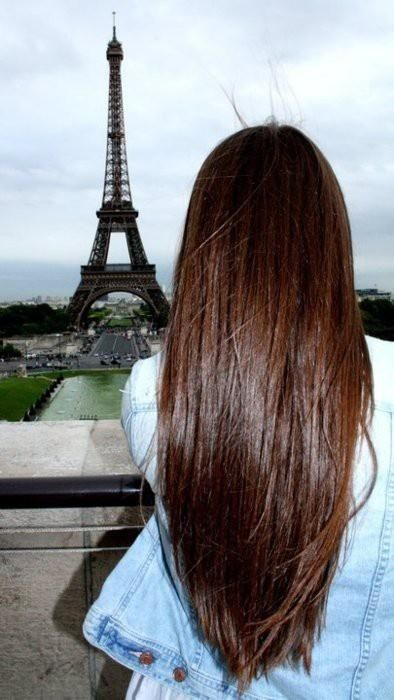 Best long straight hairstyle
