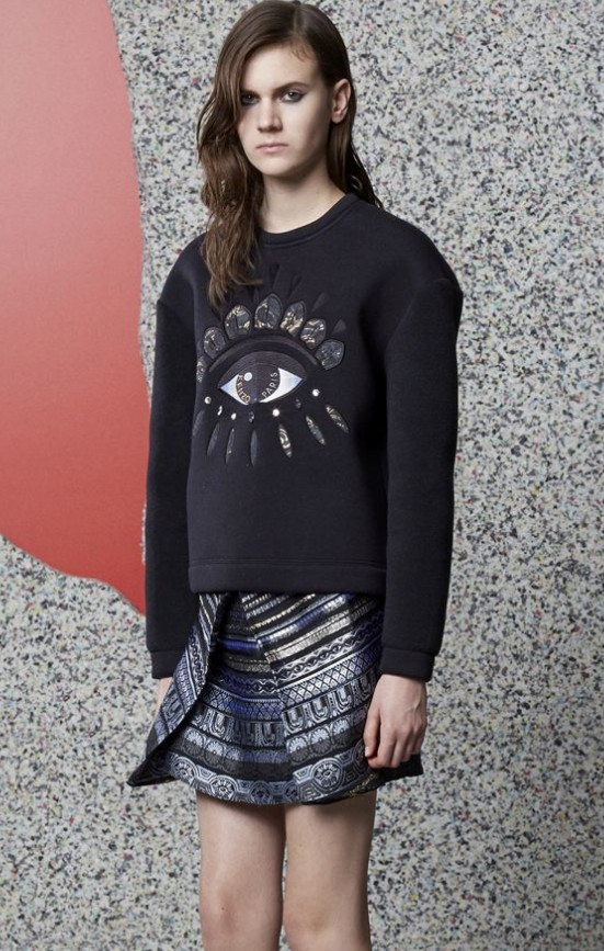 KENZO Black Eye embroidered sweater