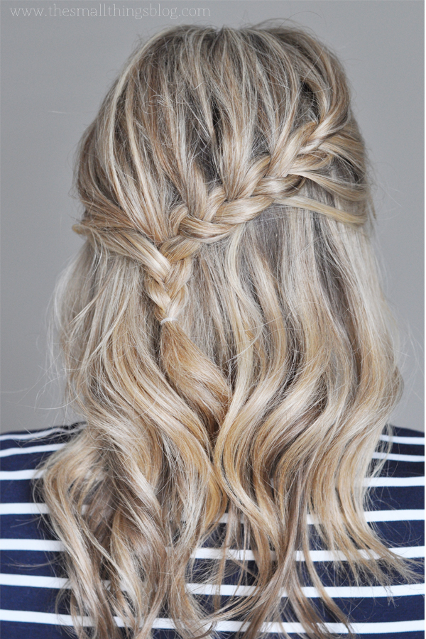 Casual Falling Braid tutorial about