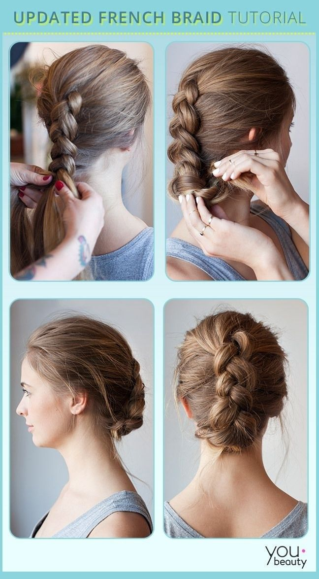 Updated French Braided Updo Hairstyle Tutorial