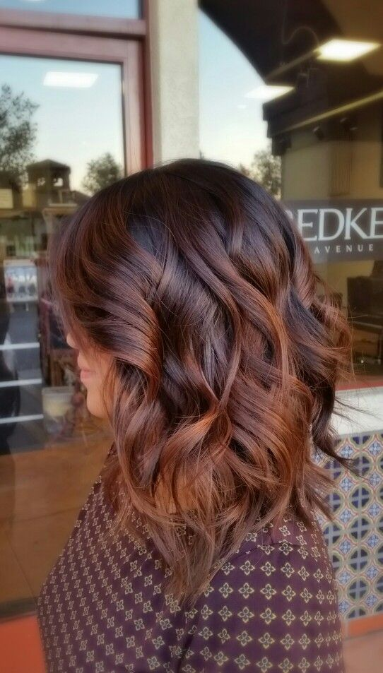 layered medium brown hairstyles