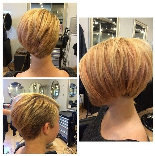 Asymmetric short bob haircut