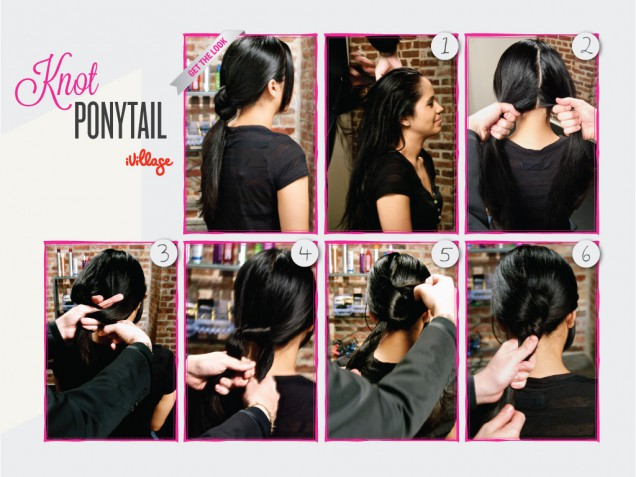 Ponytail with knots