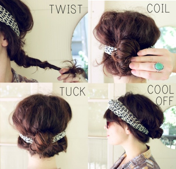 Hairstyle with headband
