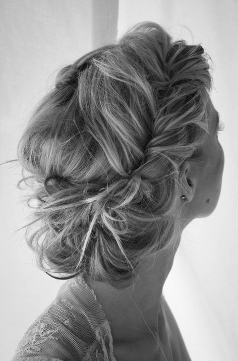 Perfect updo for long hair