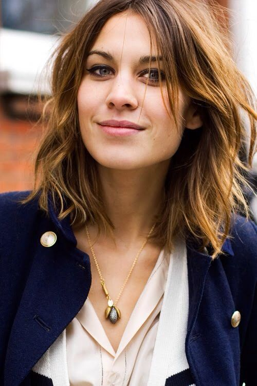 Cool shoulder length layered hairstyle