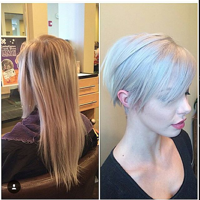 Slim long pixie hairstyle