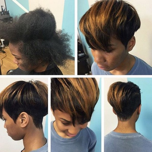 Nice short hairstyle for black women
