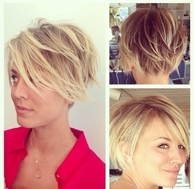 Messy Short Layered Haircut for blonde hair