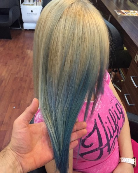 Straight ombre hairstyle for girls