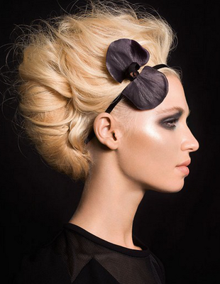 Stylish hairstyle for Christmas