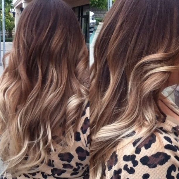 Beautiful long ombre hairstyle for women
