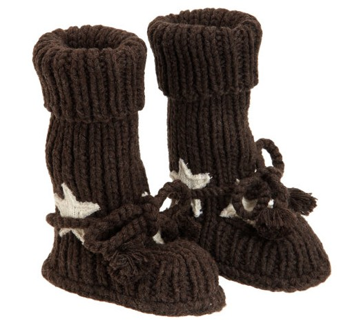 Tane Organics Star Appliqué knitted ankle boots