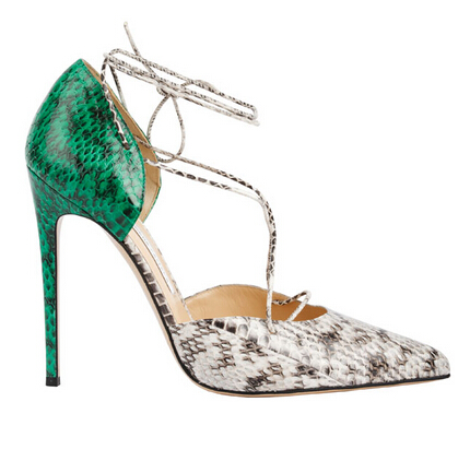 Bionda Castana Green exotic skin pumps
