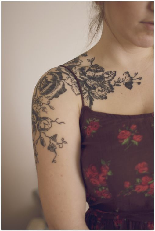 Beautiful flower arm tattoo