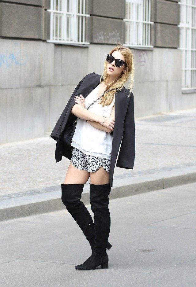 Trendy outfit idea with over the knee boots