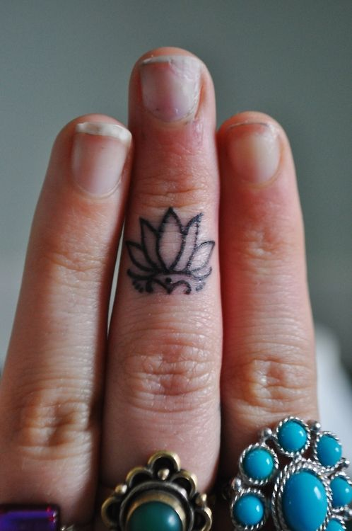 Mini lotus on the finger