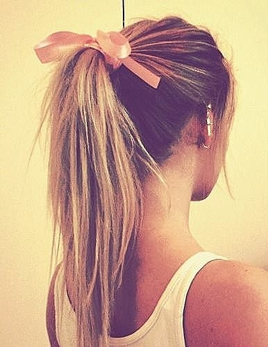 Beautiful high ponytail hairstyle