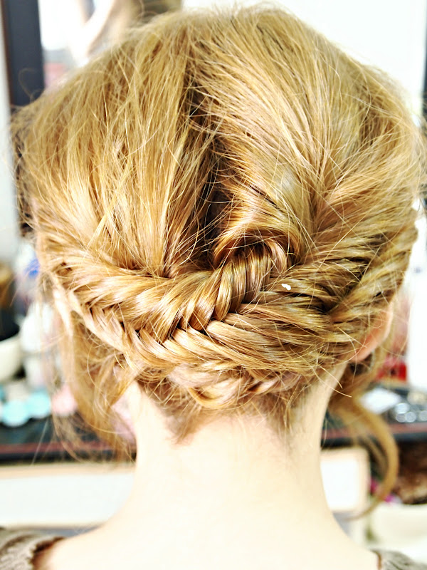 Fishtail braid crown