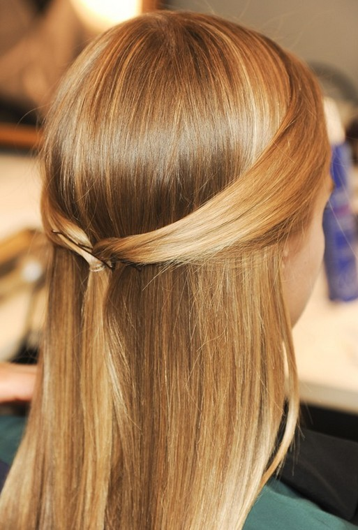 Cute hairstyle for girls - super slim ponytail and updo for summer