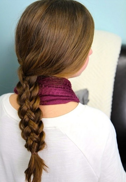 20 tutorials on braided hairstyles: cute stacked braids