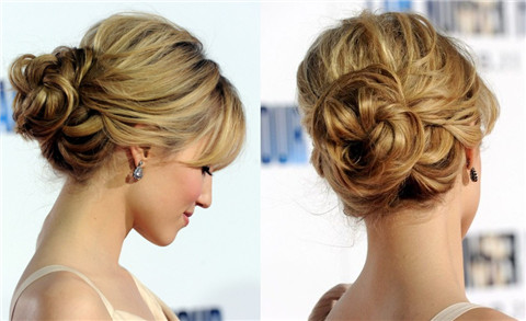 Dianna Agron hairstyles: pretty loose bun