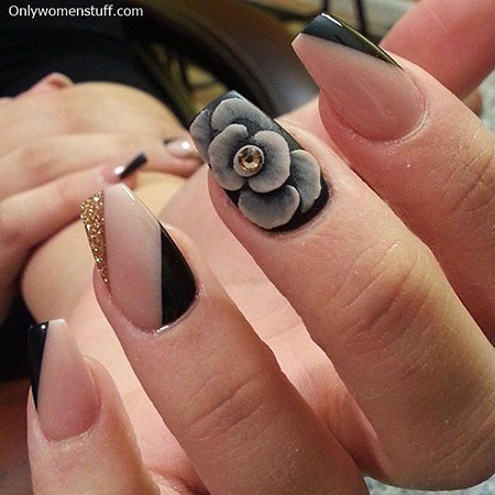 28 Pics of 3D Flower Nail Art | Best Nail Art Designs 20