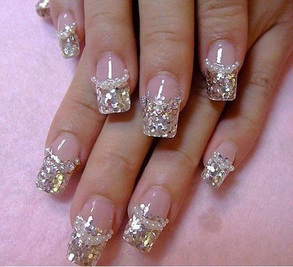 Glitter 3D Diamonds Nail Design, 3D nail art is a technique for .
