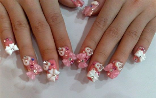 bow nails | ... nail art bows 3d nail art 3d bow nail art 3d bow .