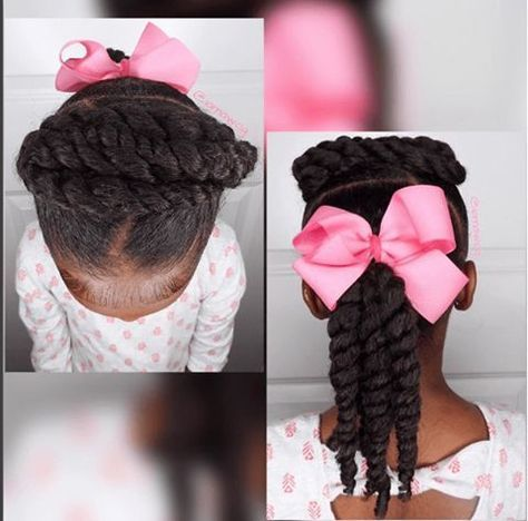 Quick & Easy 5 Minute Hairstyle for Children | Natural hairstyles .