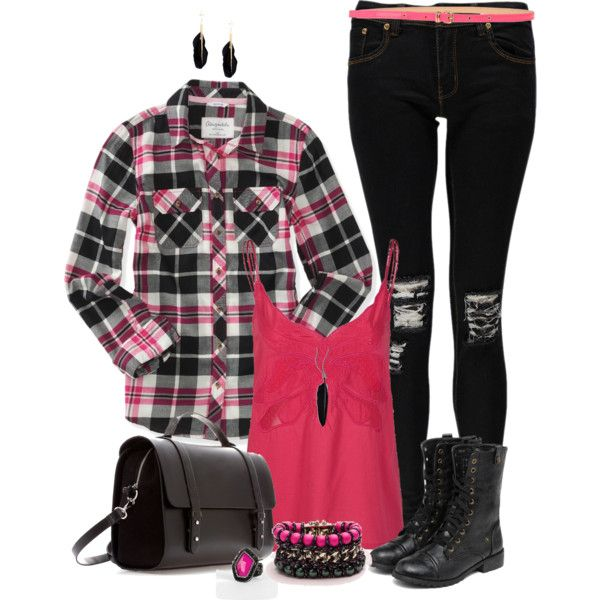 "Plaid Outfit"" by angela-windsor on Polyvore 
