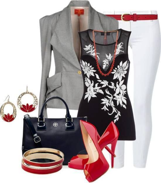 A Colletion of Hot Red Outfits From Casual to Formal | Stylish .